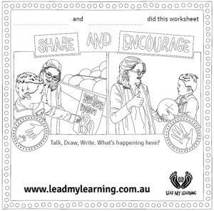 Lead My Learning worksheet image